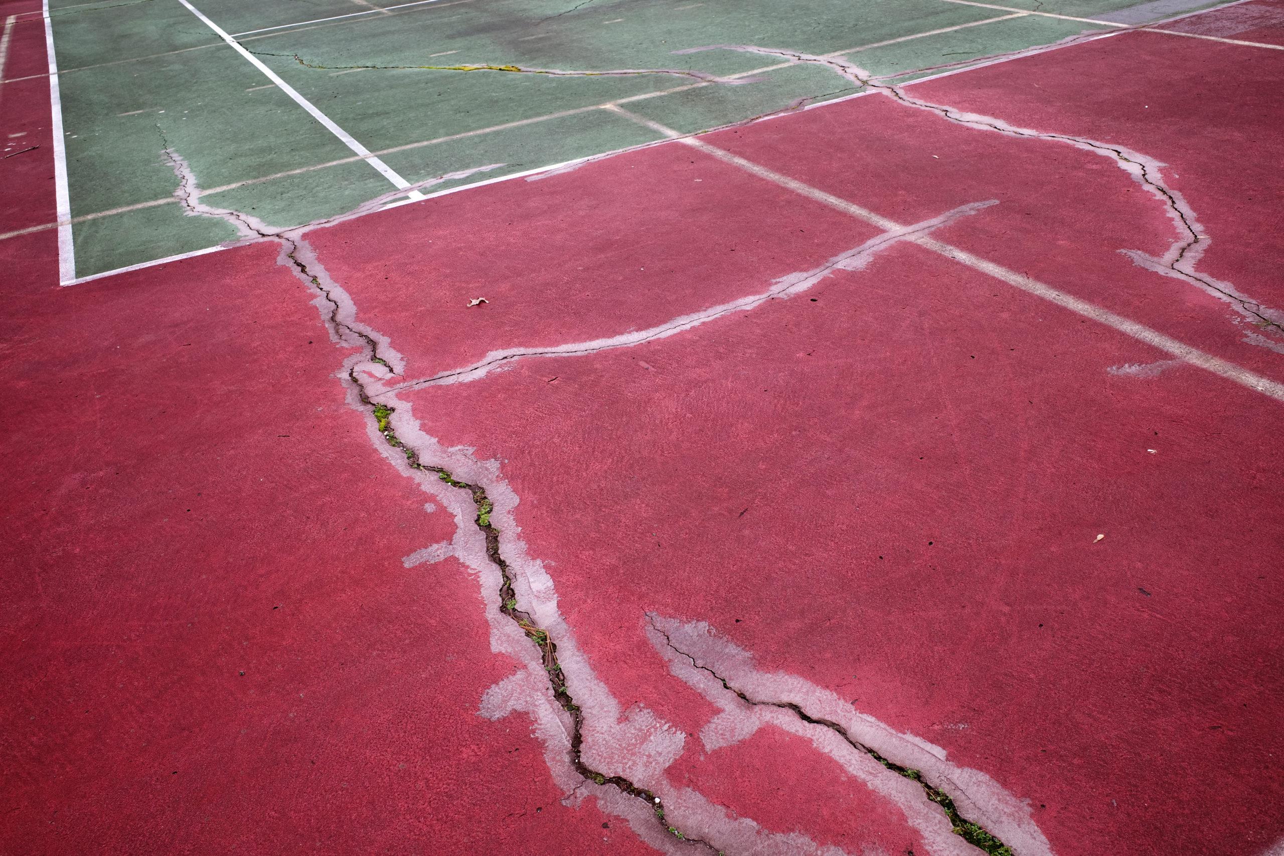 damaged tennis court atlanta